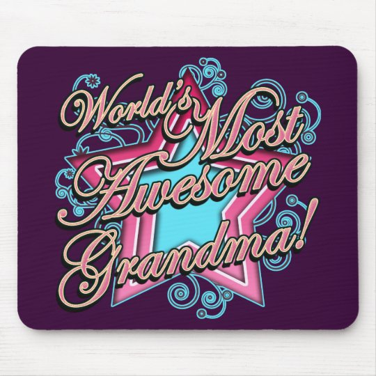 Worlds Most Awesome Grandma Mouse Mat