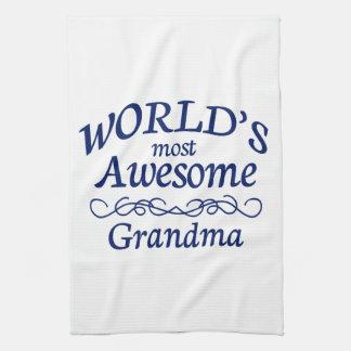 World's Most Awesome Grandma Tea Towel