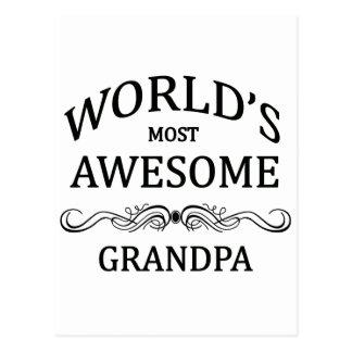 World's Most Awesome Grandpa Postcard