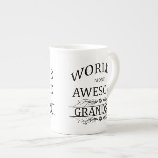 World's Most Awesome Grandson Porcelain Mugs