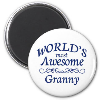 World's Most Awesome Granny 6 Cm Round Magnet
