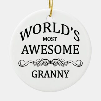 World's Most Awesome Granny Christmas Ornament