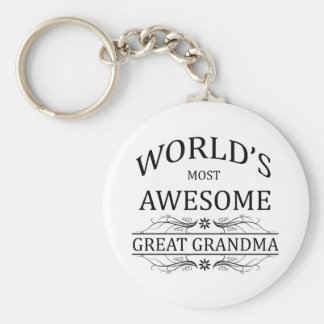 World's Most Awesome Great Grandma Key Ring