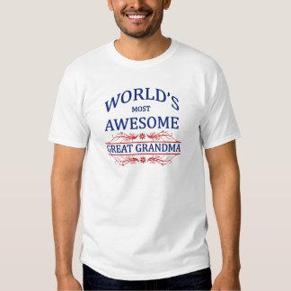 World's Most Awesome Great Grandma Tshirts