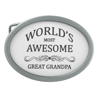 World's Most Awesome Great Grandpa Belt Buckles