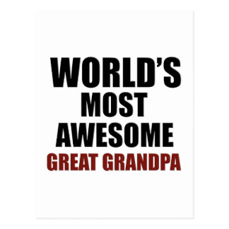 World's most awesome Great Grandpa Postcard