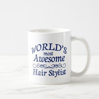 World's Most Awesome Hair Stylist Coffee Mug