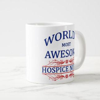 World's Most Awesome Hospice Nurse Jumbo Mug