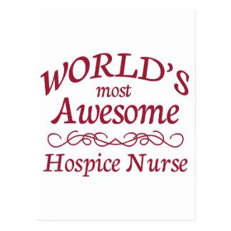 World's Most Awesome Hospice Nurse Postcard