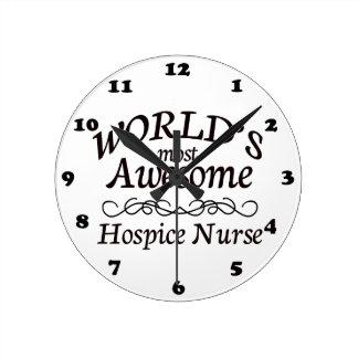 World's Most Awesome Hospice Nurse Wall Clocks