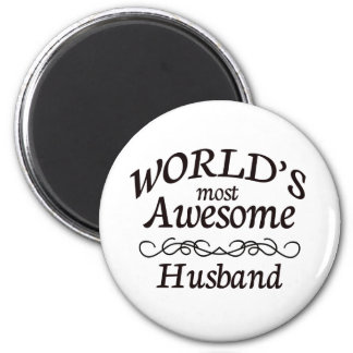 World's Most Awesome Husband 6 Cm Round Magnet