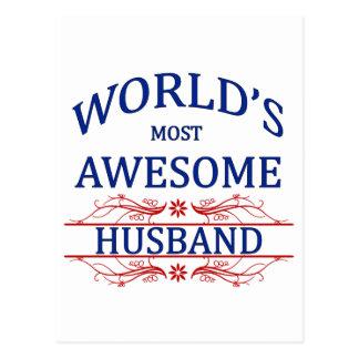 World's Most Awesome Husband Postcard