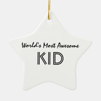 World's Most Awesome KID Christmas Ornament