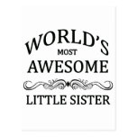 World's Most Awesome Little Sister Postcard