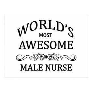 World's Most Awesome Male Nurse Post Cards