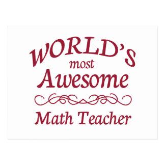 World's Most Awesome Math Teacher Postcard