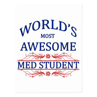 World's Most Awesome Med Student Postcard