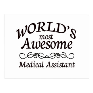 World's Most Awesome Medical Assistant Postcard