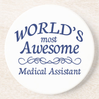 World's Most Awesome Medical Assistant Sandstone Coaster