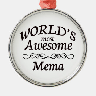 World's Most Awesome Mema Christmas Ornament