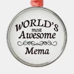 World's Most Awesome Mema Christmas Tree Ornaments