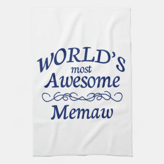 World's Most Awesome Memaw Tea Towel