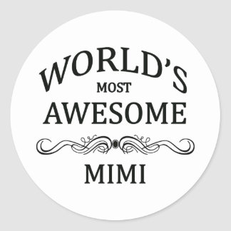 World's Most Awesome Mimi Round Sticker