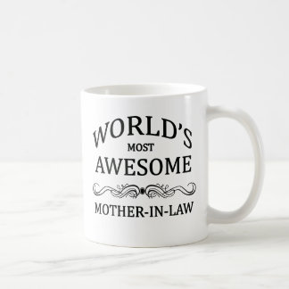 World's Most Awesome Mother-In-law Basic White Mug
