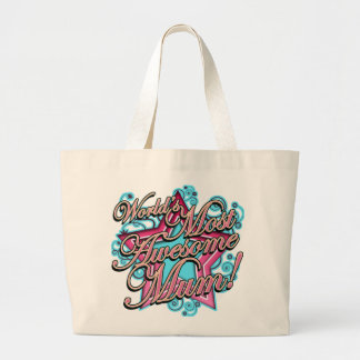 Worlds Most Awesome Mum Jumbo Tote Bag