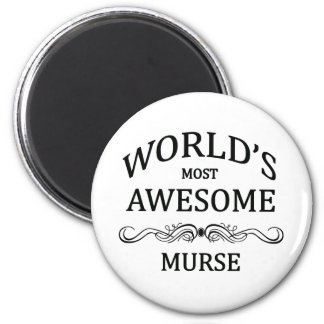 World's Most Awesome Murse 6 Cm Round Magnet