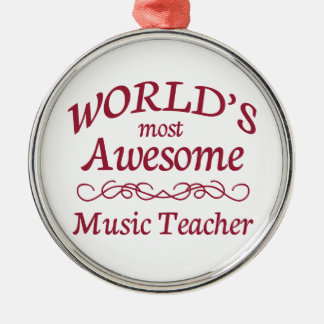 World's Most Awesome Music Teacher Christmas Ornament
