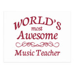 World's Most Awesome Music Teacher Post Card