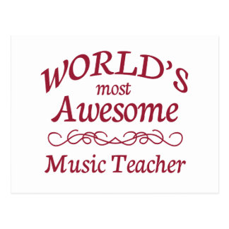 World's Most Awesome Music Teacher Postcard