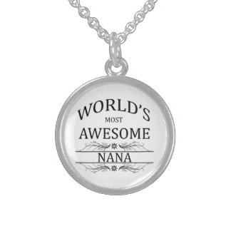 World's Most Awesome Nana Round Pendant Necklace
