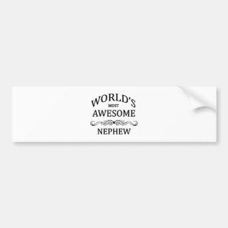 World's Most Awesome Nephew Bumper Sticker