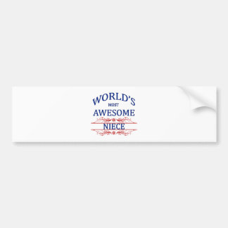 World's Most Awesome Niece Bumper Sticker