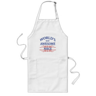 World's Most Awesome Niece Long Apron