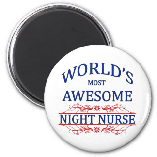 World's Most Awesome Night Nurse 6 Cm Round Magnet