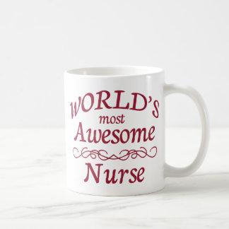 World's Most Awesome Nurse Basic White Mug