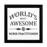 World's Most Awesome Nurse Practitioner Large Square Gift Box