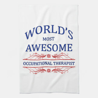 World's Most Awesome Occupational Therapist Tea Towel