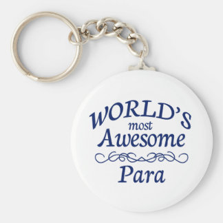 World's Most Awesome Para Basic Round Button Key Ring