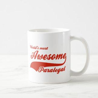 World's Most Awesome paralegal Basic White Mug