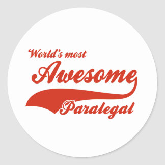 World's Most Awesome paralegal Round Sticker