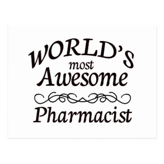 World's Most Awesome Pharmacist Postcard