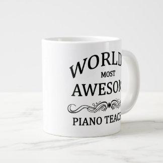 World's Most Awesome Piano Teacher Jumbo Mug