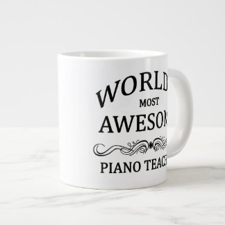 World's Most Awesome Piano Teacher Large Coffee Mug
