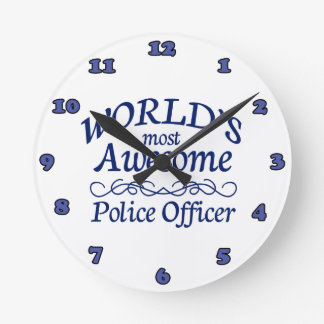 World's Most Awesome Police Officer Round Clock