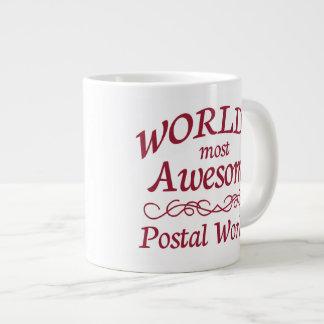 World's Most Awesome Postal Worker Large Coffee Mug