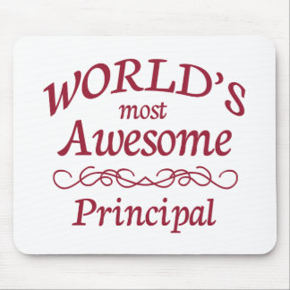 World's Most Awesome Principal Mouse Pad